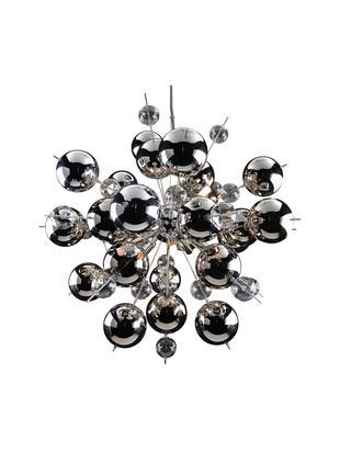 Hanglamp Explosion, chroom, Chroomkleurig, Ø 65 x H 65 cm
