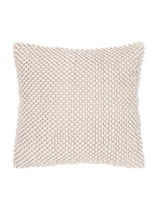 Kissenhülle Indi mit strukturierter Oberfläche, Baumwolle, Gebrochenes Weiss, 45 x 45 cm