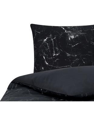 Parure copripiumino reversibile in cotone Malin, Tessuto: percalle Densità del filo, Nero, bianco, 155 x 200 cm