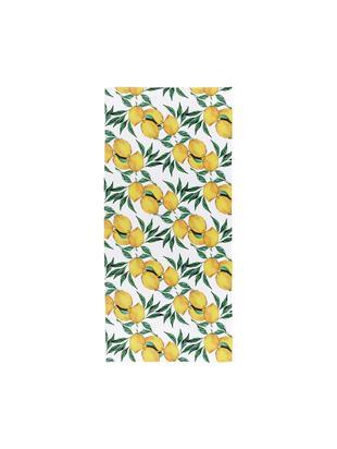 Serviette de plage légère à imprimé citron Lemon