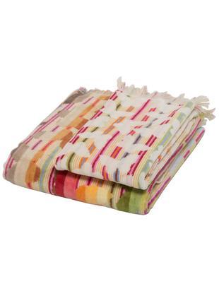 Handdoekenset Josephine, 2-delig, 100% katoen, Rood, multicolour, Verschillende formaten