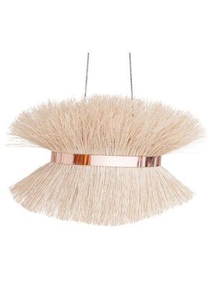Lampada a sospensione in rattan Straw, Paralume: rattan, Rattan, rame, Larg. 80 x Alt. 45 cm
