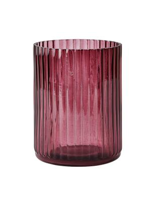 Kleine Glas-Vase Rubio, Glas, Bordeaux, transparent, Ø 11 x H 15 cm