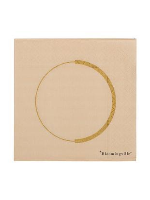 Tovagliette di carta Ringo, 20 pz., Carta, Beige, dorato, Larg. 25 x Lung. 25 cm