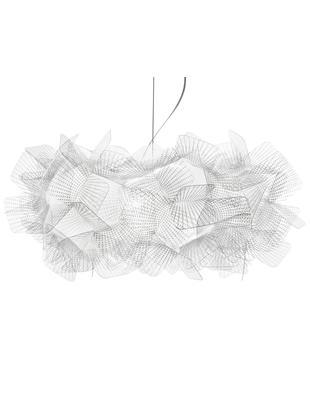 Design-Pendelleuchte Clizia Pixel, Technopolymer Opalflex®, recycelbar, bruchfest, flexibel, antistatisch beschichtet, UV- und hitzebeständig, Transparent, Ø 53 x H 25 cm