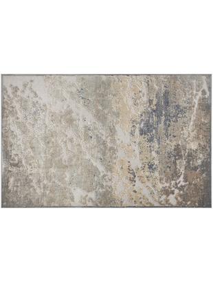 Viskose-Teppich Arroux mit Hoch-Tief-Effekt, Flor: 90% Viskose, 10% Polyeste, Grau, Silberfarben, B 80 x L 125 cm (Größe XS)
