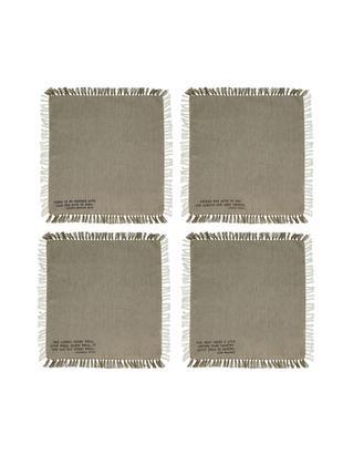 Set de servilletas de algodón Enjoy, 4pzas., Algodón, Natural, An 40 x L 40 cm