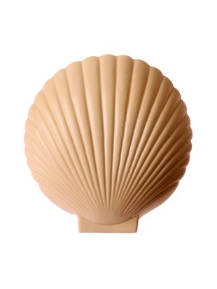 Wandlamp Shell met stekker, Keramiek, Terracotta, 19 x 21 cm