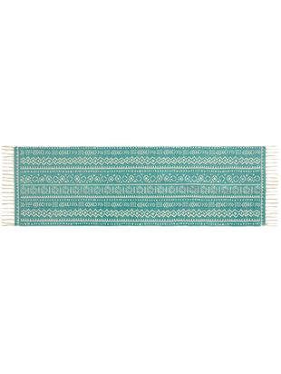Chodnik Afra, Bawełna, Turkusowy, złamana biel, S 60 x D 190 cm