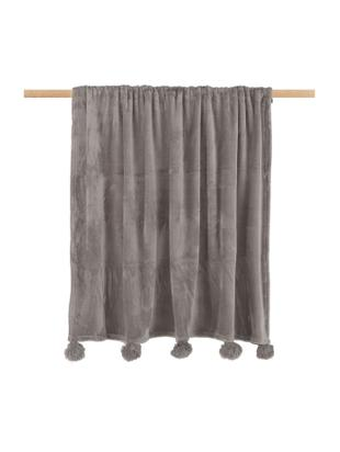 Fleece plaid Bomla, Polyester, Taupe, 130 x 170 cm
