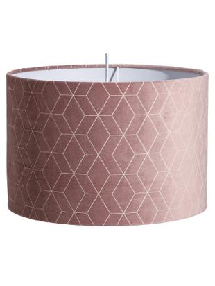 Lampa wisząca Geometric, Aksamit poliestrowy, Blady różowy, odcienie srebrnego, Ø 30 x G 30 cm