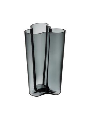 Vaas Alvar Aalto, Glas, Donkergrijs, 17 x 25 cm