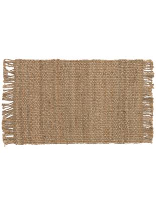 Ręcznie tkany dywan z juty z frędzlami Cadiz, Juta, Juta, S 60 x D 90 cm (Rozmiar XXS)