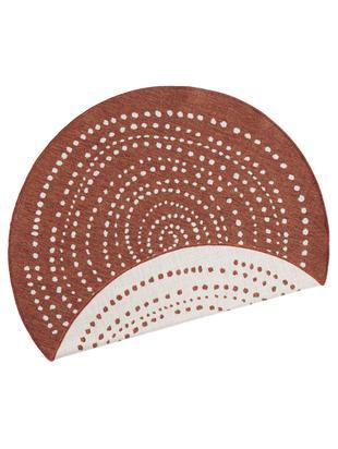 Okrągły dwustronny dywan wewnętrzny/zewnętrzny Bali, Terakota, odcienie kremowego, Ø 140 cm (Rozmiar M)