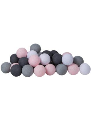 LED lichtslinger Colorain, Lampions: polyester, Roze, grijstinten, L 264 cm