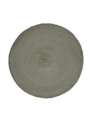 Okrągła podkładka Kolori, 2 szt., Włókna papierowe, Szary, Ø 38 cm