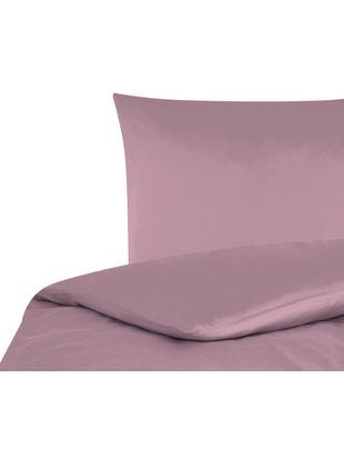 Baumwollsatin-Bettwäsche Comfort in Mauve, Mauve, 135 x 200 cm
