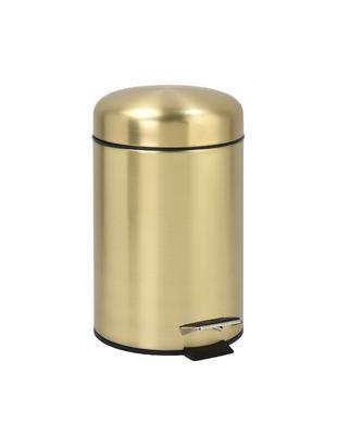 Abfalleimer Matt, Metall, beschichtet, Messingfarben, Ø 17 x H 29 cm