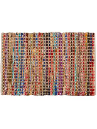 Felpudo Cando, 60% fibras sintéticas, 40% yute, Yute, multicolor, An 45 x L 75 cm