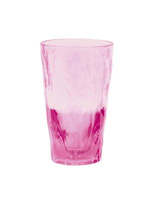 Vaso irrompibles de plástico Club, Termoplástico (Superglass), Rosa, transparente, Ø 9 x Al 14 cm