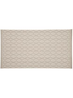 Tappeto da interno-esterno Capri, Vello: polipropilene, Retro: poliestere, Bianco, beige, Larg. 80 x Lung. 150 cm (taglia XS)