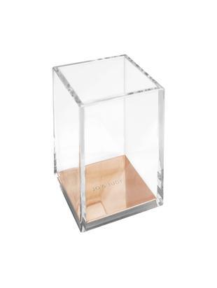 Portapenne Alea, Materiale sintetico, metallo, sughero, Trasparente, rosa dorato, Larg. 8 x Alt. 11 cm