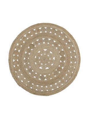 Runder Jute-Teppich Shyam, handgefertigt, Flor: Jute, Jute, Ø 150 cm (Größe M)