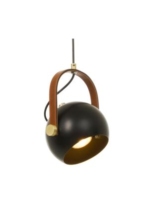 Lámpara de techo Bow, Cable: plástico, Negro, An 19 x Al 20 cm