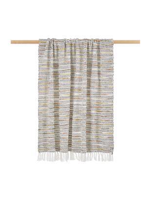 Pled Bo-Kaap, Bawełna, Odcienie kremowego, czarny, brunatnożółty, pomarańczowy, S 125 x D 150 cm