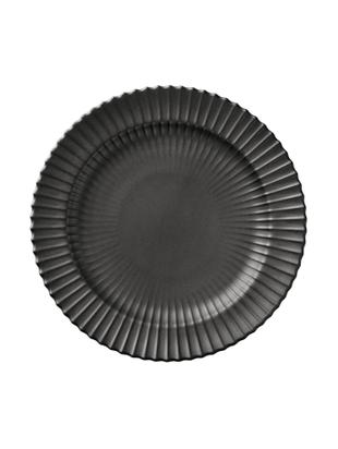 Plato de postre The Lyngby Plate, Porcelana, Negro, mate, Ø 20 x Al 2 cm