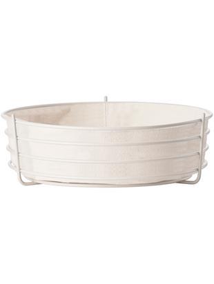 Cesta per pane con panno rimovibile Gola, Beige chiaro, Ø 26 x Alt. 8 cm