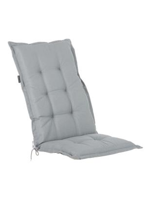 Einfarbige Hochlehner-Stuhlauflage Panama, Bezug: 50% Baumwolle, 50%Polyes, Hellgrau, 50 x 123 cm