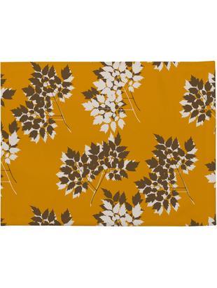 Tovaglietta americana Autumn Leaves 4 pz, Poliestere, Crema, giallo senape, marrone, Larg. 35 x Lung. 45 cm