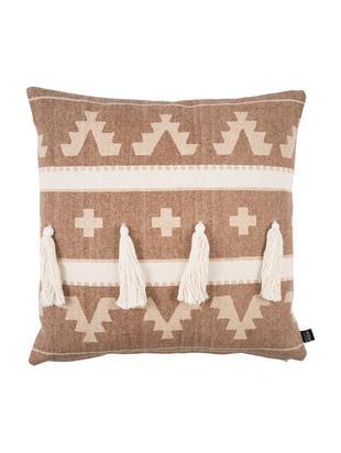 Poduszka z chwostami z wypełnieniem Wildheart, Bawełna, Jasny terakota, kremowy, D 50 x S 50 cm