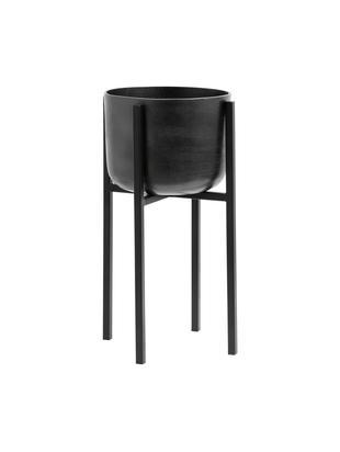 Macetero Minell, Estructura: metal, recubierto, Negro, Ø 28 x Al 50 cm