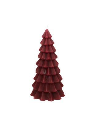 Candela natalizia a forma di albero Christmas Tree, Paraffina, Rosso, Ø 10 x Alt. 20 cm