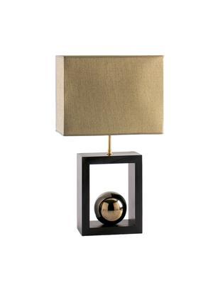 Lámpara de mesa Scala, Pantalla: poliéster, Cable: plástico, Dorado, marrón, An 30 x Al 54 cm