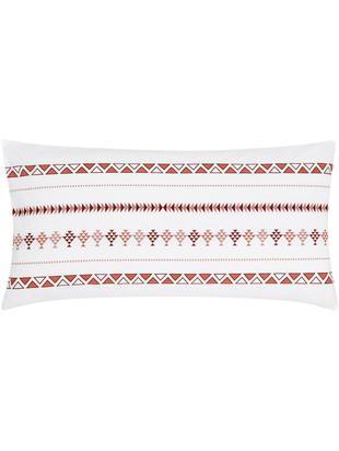 Poszewka na poduszkę z perkalu boho Indira, 2 szt., Biały, brązowy, S 40 x D 80 cm
