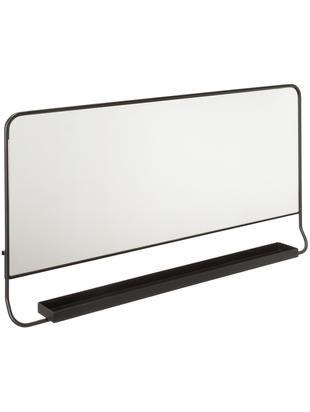 Prostokątne lustro ścienne z półką Chic, Czarny, S 80 x W 40 cm
