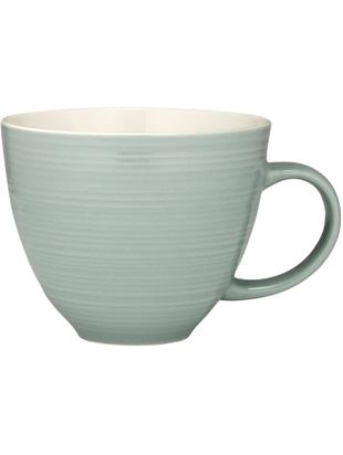 Tazza da caffè Darby, 4 pz., New bone china, Verde, bianco latteo, Ø 24 x Alt. 11 cm