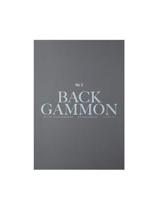 Backgammon-Set Classic, Papier, Acryl, Grau, Schwarz, Türkis, Weiß, 31 x 5 cm