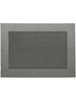 Podkładka Modern, 2 szt., Tworzywo sztuczne, Srebrny, czarny, 33 x 46 cm