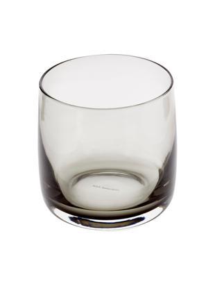 Szklanka do wody Colored, 6 szt., Szkło, Szary, transparentny, Ø 8 x W 8 cm
