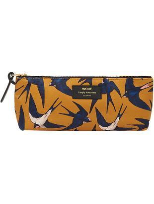 Stifte-Etui Swallow, Polyester, Leder, Gelb, Blau, Beige, 22 x 9 cm