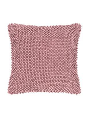Poszewka na poduszkę Indi, 100% bawełna, Brudny różowy, S 45 x D 45 cm