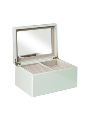 Szkatułka na biżuterię z lustrzaną powierzchnią Taylor, Miętowy, S 26 x W 13 cm