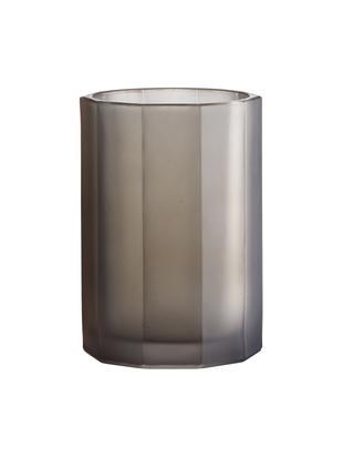 Vaso in vetro Plisa, Vetro, Grigio opaco, Ø 10 cm x A 15 cm