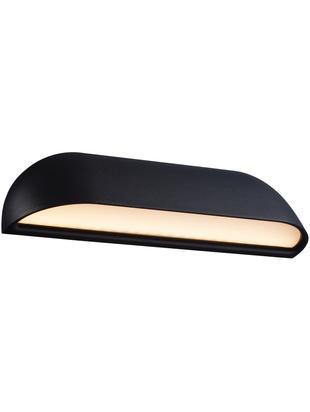 Outdoor LED wandlamp Front, Diffuser: kunststof, Zwart. Diffuser: wit, melkachtig-transparant, 26 x 7 cm