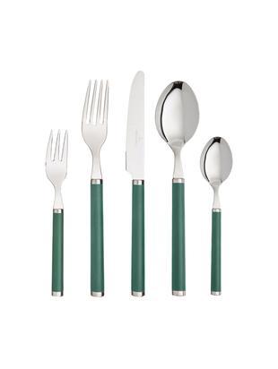 Set 30 posate in acciaio inossidabile 18/10 per 6 persone Play! Green Garden, Acciaio inossidabile 18/10, materiale sintetico, Verde, acciaio inossidabile, Diverse dimensioni