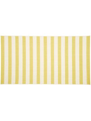 Alfombra de interior/exterior Axa, Parte superior: polipropileno, Reverso: poliéster, Blanco, amarillo, An 80 x L 150 cm (Tamaño XS)